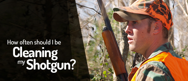 How often should I be cleaning my shotgun?