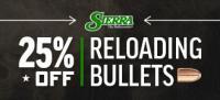 25% Off Sierra Reloading Bullets
